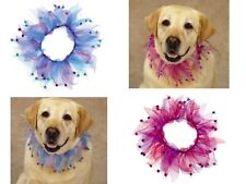 Any Size & Color - Aria Blooming Brights - Scrunchy - Dog Neck Wear with Bells