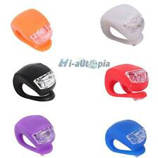 New Waterproof Double LED Light Silicone Rear Wheel for Bicycle Bike Cycling