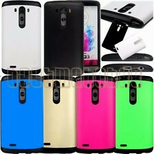 for LG G3 rugged hybrid dual layer hard pc rubber shock proof case cover guard