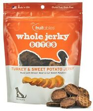 Fruitables Natural Jerky Bites TURKEY & SWEET POTATO Dog Treats 5 oz MADE IN USA