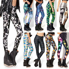 Current Women Punk Sexy Digital Graphic Printed Slim Tight Pencil Leggings Pants