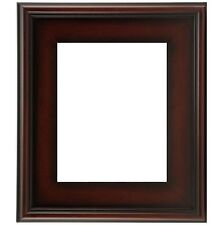 """CLASSIC MODERN STYLE PICTURE ART PAINT FRAME PLEIN AIR WOOD BROWN LEAF 3"""" WIDE 1"""