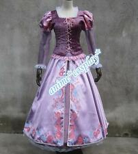 Adult  Rapunzel Outfit Fancy Dress Costume Princess Fairytale Tangled cosplay