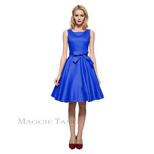 Maggie Tang 50s VTG Hepburn Rockabilly Pinup Party Swing Business Dress R-570