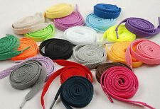Newest 1.2m*0.8cm Coloured Shoe Laces Trainers Skate Strong Shoelaces 4pc supply