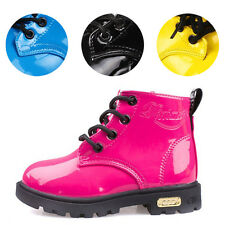 4 Colors Kid Girls Waterproof Shoes Faux Leather Non-slip Casual Martin Boots