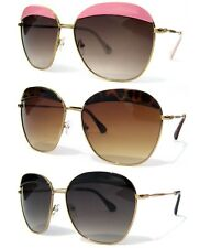 WOMENS SUNGLASSES OVERSIZE Designer Inspired Fashion Gradient Lens New Sexy Brow