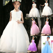 2015 Kid Baby Girl Party/Bridesmaid/Princess/Wedding Flower Dress Aged 18M-14Y