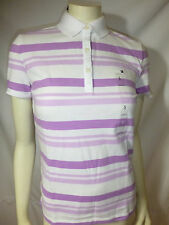 TOMMY HILFIGER womens purple multi polo shirt tee top new nwt