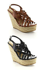 Iveth 8 - Women Fashion Strappy Hollow-out Sling Back Platform Wedge Sandal
