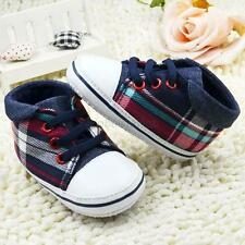 Baby Boys Canvas Sports Prewalker Crib Shoes Infant Soft Sole Shoes Sneakers G23