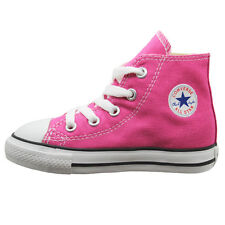 Converse CT Hi Top Rose Infants Toddlers Girls Lace Canvas Trainers(736562C D14)