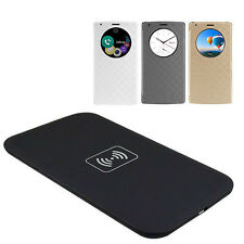 New Quick Circle Leather CASE COVER + Qi Wireless CHARGER Charging PAD For LG G4