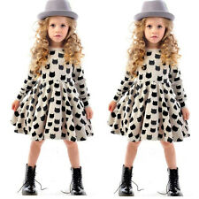 2-7Year Girls Clothes Kids Vintage Cat Sleeveless Tulle Skirt Kids Party Dresses