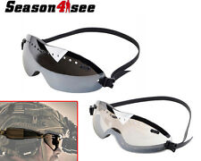 1X Airsoft Motorcycle Windproof Regulator Combat Goggles Glasses set for Helmet