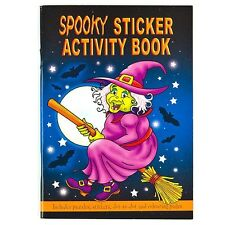 A6 SPOOKY HALLOWEEN 36 PAGE ACTIVITY STICKER BOOKS TRICK OR TREAT PARTY FAVOURS