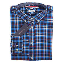 Tommy Hilfiger Men Long Sleeve Custom Fit Button Down Plaid Shirt - Free $0 ship