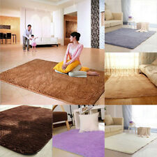 Dining Room Carpet Shaggy Soft Anti-skid Area Rug Bedroom Yoga Square Floor Mat