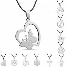 Silver Stainless Steel Necklace Pandent Animal Owl 2015 Popular Gift Unisex New