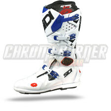 SIDI Crossfire 2 SRS Motorcycle Boots White Blue , NEW, Many sizes