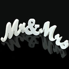 Mr & Mrs Wedding Reception Solid Wooden Letters Table Top Centrepiece Decoration