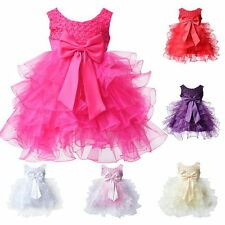 Toddle Baby Infant Clothes Cake Dress Flower Girl Party Outfits Tutu Wedding New