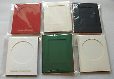 92 x 118mm APERTURE CARD BLANKS & ENV - CHRISTMAS COLOURS - 11 DIFFERENT PACKS