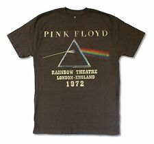 "PINK FLOYD ""RAINBOW THEATRE '72"" BROWN T-SHIRT NEW OFFICIAL ADULT"