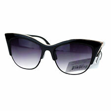 Vintage Retro Fashion Sunglasses Womens Half Rim Look Cateye