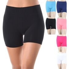 Seamless Solid Stretchable Layering Short Leggings Casual Easy Wear ONE SIZE