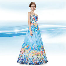 Ever Pretty Strapless Floral Printed Maxi Sexy Evening Cocktail Dress 08387