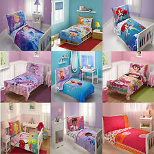4pc Kids Toddler Crib Bedding Set Childrens Girls Disney Character Bed In A Bag