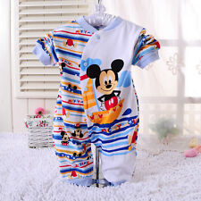 Newborn Baby Boys Mickey Mouse 0-18M Rompers Pants Playsuit Jumpsuit Christmas