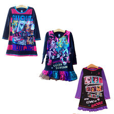 Girl Kids Monster High Skull 6-16Y Sleepwear Long Sleeve Nightgown Dress Pajamas