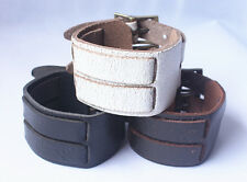 1pcs Genuine Leather Bracelet Lots Wristband Cuff Leather Men Bracelet NK032