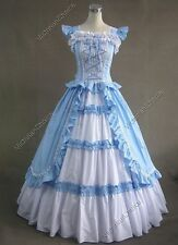 Victorian Gothic Princess Dress Ball Gown Theater Women Halloween Costume 085