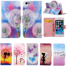 Hybrid Flip Wallet Leather Card Holder Stand Case Cover For iPhone 5s 5c 6 4.7""