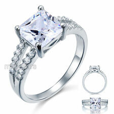 925 Sterling Silver Wedding Engagement Ring 2 Carat Created Diamond FR8082