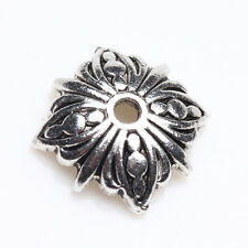 Lots 20/50Pcs Tibetan Silver Carved Flower Shaped Bead Caps DIY Findings 10*10mm