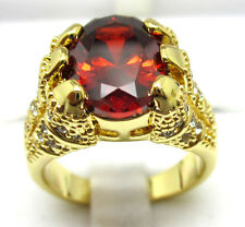 Size:10 11 Nice Jewelry Fashion 10KT Yellow Gold Filled Ruby Men's ring