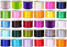 1.5 mm Nylon Beading Braided Chinese Knoting Rattail Satin Cord Shamballa String