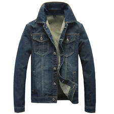 Classic Fashion Mens Stylish Cowboy Denim Jeans Hooded Jacket Casual Coat M-5XL
