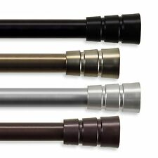 "Curtain Rod 3/4"" OD #30 choose from 4 colors & 4 sizes 28""-170"""