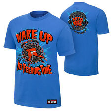 Ryback Feeding Time WWE Authentic Mens Blue T-shirt