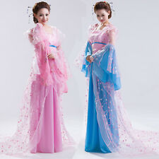 Chinese Han Clothing Dance Photography Costumes Trailing Dress Embroidered Robe