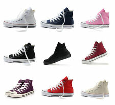 New Men Women Casual Canvas Sneaker Shoes High Top Flat Lace Up Running Shoes