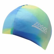 Zoggs Kids Junior Mcolour Caps Hat Swimming Waterproof Sport Accessories