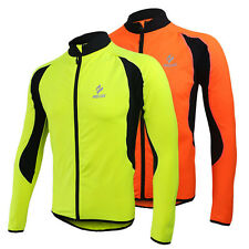 Top Mens Outdoor Thermal Fleece Cycling Jogging Jacket Bicycle Jersey Outerwear