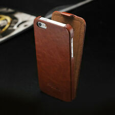 Leather Case For iPhone 4/4S/5/5S Slim Retro Vertical Flip Fitted Cover Pouch