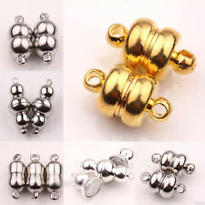 5/10 Sets White K/Silver/Gold Plated Calabash Shaped Magnetic Clasps Jewelry DIY